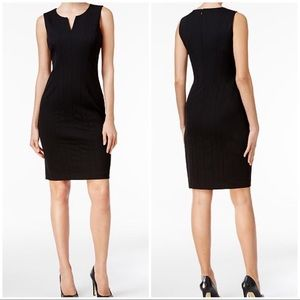 NWT Calvin Klein black sheath dress